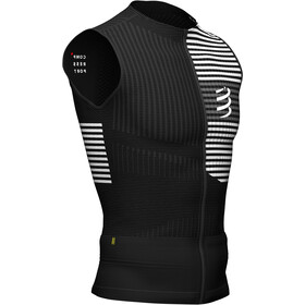 Compressport Triathlon Postural Top Sin Mangas Hombre, black/white
